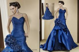 the best and appealing royal blue wedding dresses pictures ideas