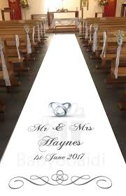 ivory aisle runner babyobaidi personalised aisle runner wedding rings