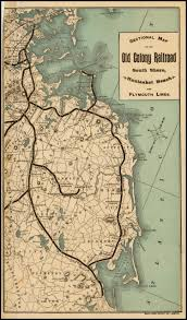 Plymouth Massachusetts Map by Sectional Map Of The Old Colony Railroad South Shore Nantasket