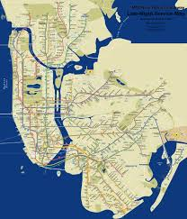 New York Submay Map by Late Night Subway Map Helps Get You Home At All Hours Village Voice