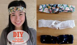 fabric headband diy how to sew an easy turban headband tutorial sew easy