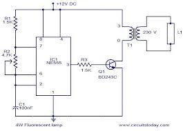 4w fluorescent lamp driver electronic circuits and diagram