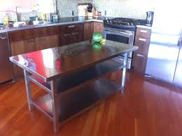 stainless steel kitchen island with butcher block top stainless steel kitchen island with storage threshold top ikea