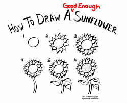 how to draw a good enough sunflower http jeannelking com how to