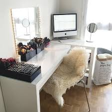 Pinterest Computer Desk Best 25 Makeup Desk Ideas On Pinterest Vanity Diy Regarding Make