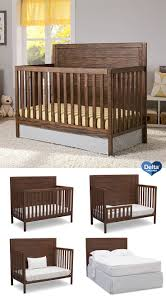 interior bertini pembrooke in convertible crib natural rustic