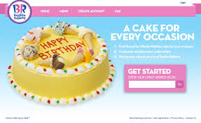 cake order baskin robbins launches online cake ordering through olo s digital