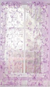 ribbon trim chf ribbon trim nature floral sheer rod pocket single curtain