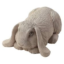 cania international lop eared bunny cast garden statue