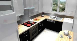 cuisine en l pas cher cuisine équipée avec l évier sous la fenêtre cuisine