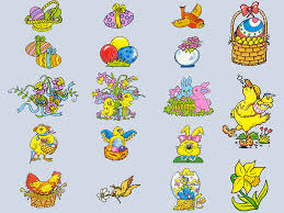 happy easter clip art printable calendar template easter eggs