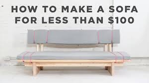 diy sofa how to make a no sew sofa for under 100 youtube