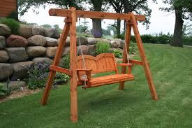 How To Build A Backyard Swing Outdoor Swing Frames Hand Made Cedar Porch Swings Adirondack