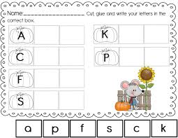the crazy pre k classroom fall freebie fall themed abc and 123