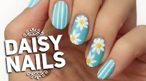 spring daisy nail art design youtube