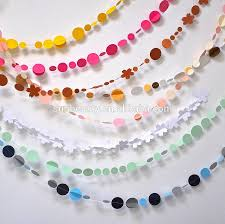 elegant rainbow color paper garland 3 6m backdop paper crafts