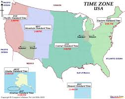 usa time zone map est anglonautes vocabulary words time time zones