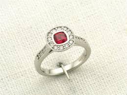 ruby engagement rings vintage art deco ruby engagement ring portfolio durham rose