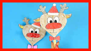 reindeer paper craft christmas craft for kids youtube