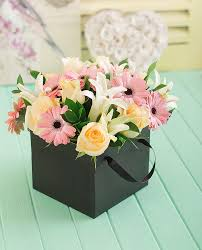 flowers in a box netflorist pastel flowers in a box for style