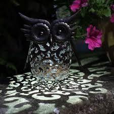 smart garden solar metal scroll owl light on sale fast delivery