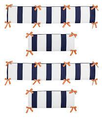 amazon com orange and navy blue arrow collection crib bumper by