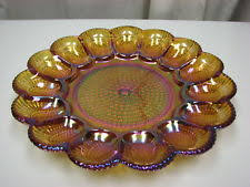 glass egg plate vintage carnival glass egg plate ebay