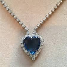 heart necklace from titanic images Titanic heart of the ocean necklace os from pam 39 s closet on poshmark jpg