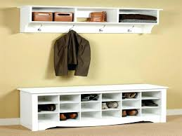 entrance coat rack bench plans storage with cherry combo and