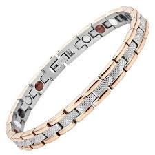 magnetic bracelet tool images Womens two tone four element titanium magnetic bracelet willis judd jpg