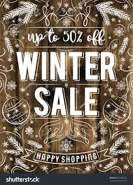 brown christmas poster wooden christmas poster snowflakes sale offer stock vector