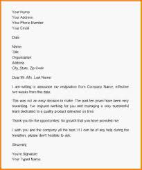 how to write a two week notice letter sample resignation email