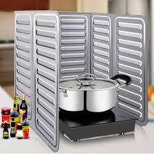 stove splash guard silver practical kitchen oil splash guard gas stove cooker oil