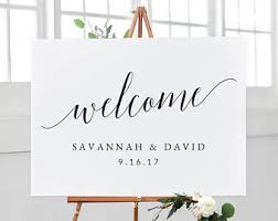 wedding signs template wedding welcome sign etsy