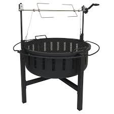 Fire Pit Grill Insert by Amazon Com Rancher Fire Pit Charcoal Grill With Rotisserie 31