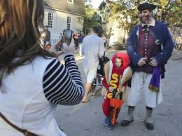 colonial williamsburg trick or treat daily press