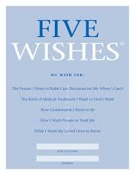 five wishes advanced care directive living will precious