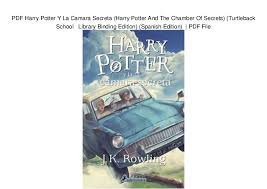 harry potter et la chambre des secrets pdf pdf harry potter y la camara secreta harry potter and the chamber of