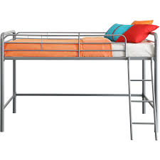 amazon com home junior metal twin loft bed furniture frame bunk