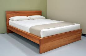 Brown Wood Bed Frame Light Brown Wooden Bed Frame With Board Also White Bedding