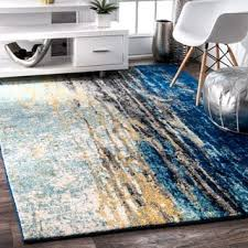Buy Modern Rugs Shop For Nuloom Modern Abstract Vintage Blue Area Rug 5 X 7 5