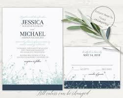 wildflower wedding invitation set rustic spring wedding