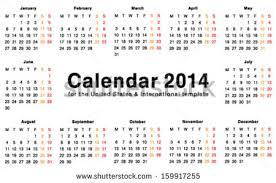 calendar 2014 template design blank printable stock illustration