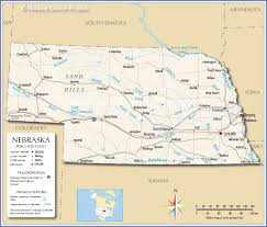 Map Of The United States With Cities Reference Map Of Nebraska Usa Nations Online Project