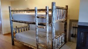 Log Bunk Beds  Great Northern Logworks - Log bunk beds
