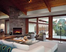 modern living room wooden furniture house decor picture