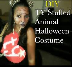 leopard print makeup tutorial diy ty stuffed animal halloween