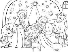 christmas nativity scene coloring nativity scene bible
