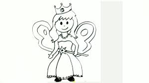 how to draw a little fairy in easy steps for children beginners