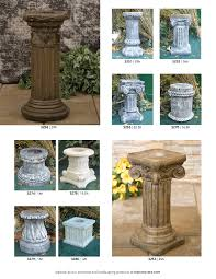 ed s concrete products ornamental garden products pedestals